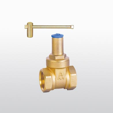 115 brass gate valve with lock